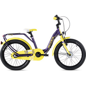 s'cool niXe alloy street 18 3-S Kinderen, purple metalic /yellow